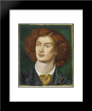 Algernon Charles Swinburne: Modern Custom Black Framed Art Print by Dante Gabriel Rossetti