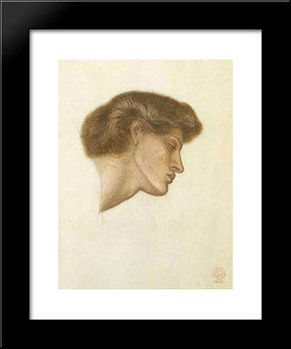 Dante'S Dream At The Time Of The Death Of Beatrice - Study: Modern Custom Black Framed Art Print by Dante Gabriel Rossetti