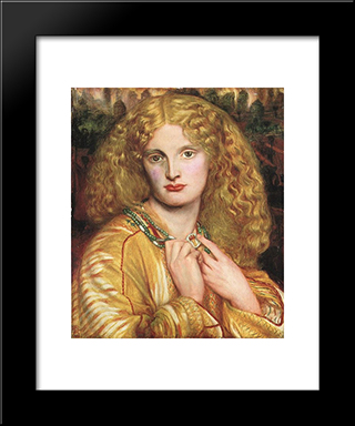 Helen Of Troy: Modern Custom Black Framed Art Print by Dante Gabriel Rossetti
