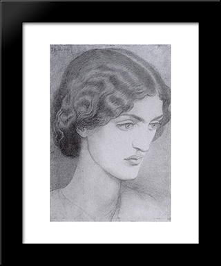 Jane Burden: Modern Custom Black Framed Art Print by Dante Gabriel Rossetti