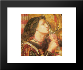 Joan Of Arc: Modern Custom Black Framed Art Print by Dante Gabriel Rossetti