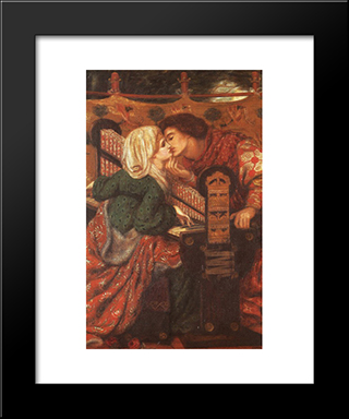 King Rene'S Honeymoon: Modern Custom Black Framed Art Print by Dante Gabriel Rossetti