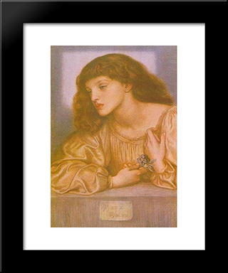 May Morris: Modern Custom Black Framed Art Print by Dante Gabriel Rossetti