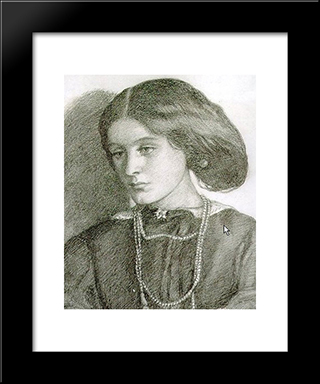 Mrs. Burne-Jones: Modern Custom Black Framed Art Print by Dante Gabriel Rossetti
