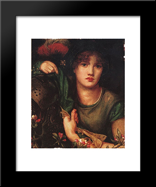 My Lady Greensleeves: Modern Custom Black Framed Art Print by Dante Gabriel Rossetti