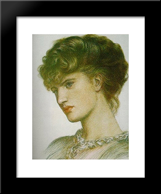 Portrait Of A Lady: Modern Custom Black Framed Art Print by Dante Gabriel Rossetti