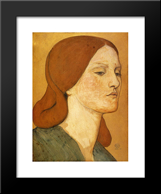 Portrait Of Elizabeth Siddal: Modern Custom Black Framed Art Print by Dante Gabriel Rossetti