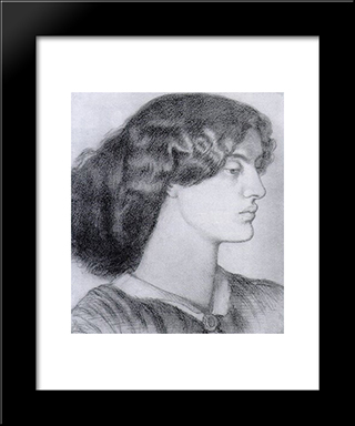 Portrait Of Jane Morris: Modern Custom Black Framed Art Print by Dante Gabriel Rossetti