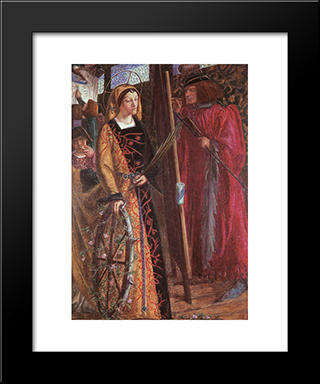 Saint Catherine: Modern Custom Black Framed Art Print by Dante Gabriel Rossetti