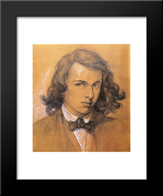 Self Portrait: Modern Custom Black Framed Art Print by Dante Gabriel Rossetti