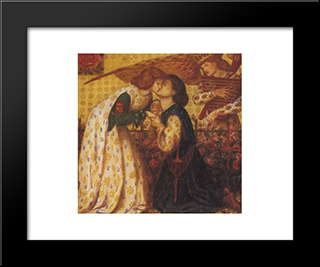 Roman De La Rose: Modern Custom Black Framed Art Print by Dante Gabriel Rossetti