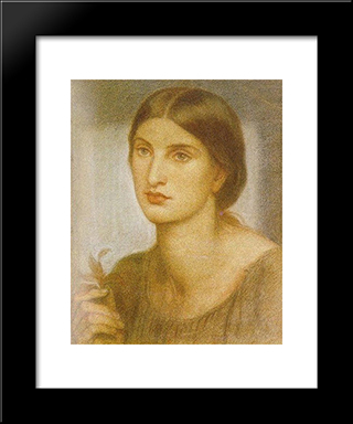 Study Of A Girl: Modern Custom Black Framed Art Print by Dante Gabriel Rossetti