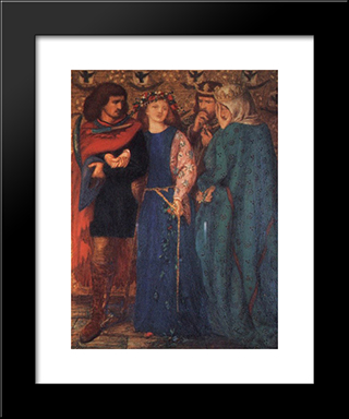 The First Madness Of Ophelia: Modern Custom Black Framed Art Print by Dante Gabriel Rossetti