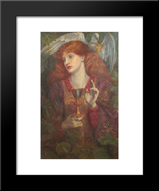 The Holy Grail: Modern Custom Black Framed Art Print by Dante Gabriel Rossetti