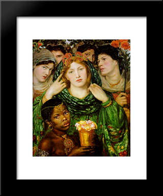 The Beloved: Modern Custom Black Framed Art Print by Dante Gabriel Rossetti