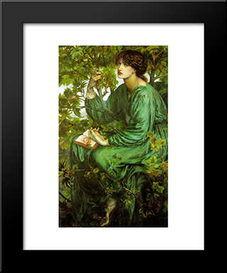 The Day Dream: Modern Custom Black Framed Art Print by Dante Gabriel Rossetti