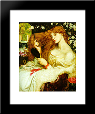 Lady Lilith: Modern Custom Black Framed Art Print by Dante Gabriel Rossetti