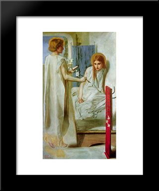 The Annunciation: Modern Custom Black Framed Art Print by Dante Gabriel Rossetti