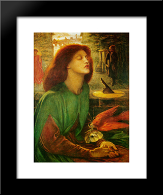 Blessed Beatrice: Modern Custom Black Framed Art Print by Dante Gabriel Rossetti