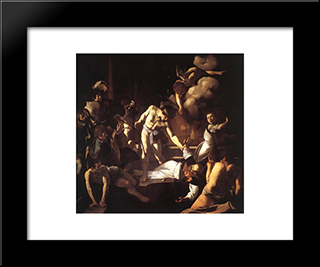 The Martyrdom Of St. Matthew: Modern Custom Black Framed Art Print by Caravaggio