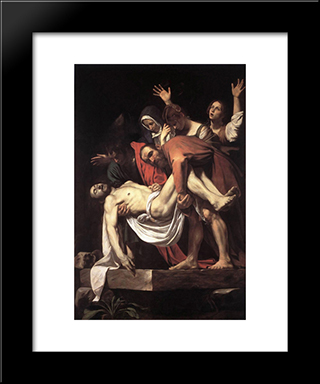The Entombment: Modern Custom Black Framed Art Print by Caravaggio