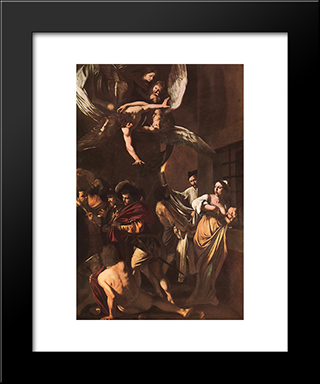The Crucifixion Of Saint Peter: Modern Custom Black Framed Art Print by Caravaggio