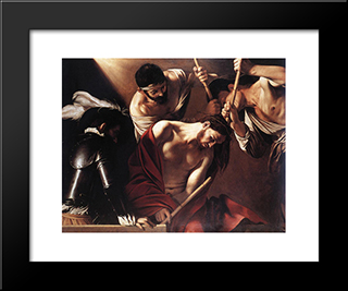 The Crowning With Thorns: Modern Custom Black Framed Art Print by Caravaggio
