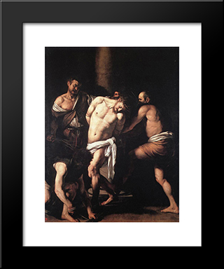 Flagellation: Modern Custom Black Framed Art Print by Caravaggio