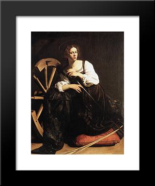 St. Catherine Of Alexandria: Modern Custom Black Framed Art Print by Caravaggio