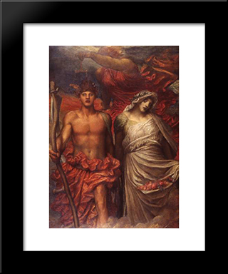 Time, Death And Judgement: Modern Custom Black Framed Art Print by George Frederick Watts