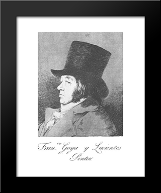Caprichos - Plate 1: Francisco Goya Y Lucientes: Modern Custom Black Framed Art Print by Francisco Goya