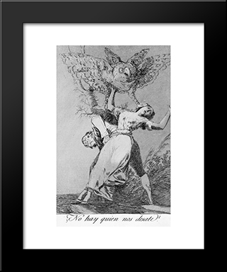 Caprichos - Plate 75: Can'T Anyone Untie Us?: Modern Custom Black Framed Art Print by Francisco Goya