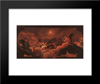 The Adoration Of The Name Of The Lord: Modern Custom Black Framed Art Print by Francisco Goya