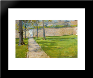 A Bit Of Sunlight Aka The Garden Wass: Modern Custom Black Framed Art Print by William Merritt Chase