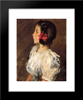 Dorothy: Modern Custom Black Framed Art Print by William Merritt Chase