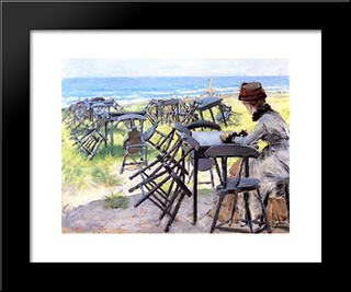 End Of The Season: Modern Custom Black Framed Art Print by William Merritt Chase