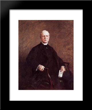 G. Colesberry Purves, Esq.: Modern Custom Black Framed Art Print by William Merritt Chase
