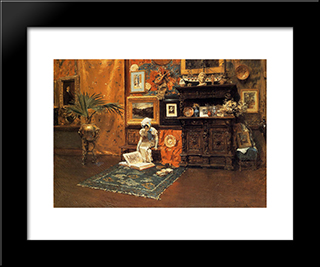 In The Studio: Modern Custom Black Framed Art Print by William Merritt Chase