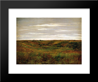Landscape: A Shinnecock Vale: Modern Custom Black Framed Art Print by William Merritt Chase