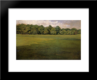 Prospect Park: Modern Custom Black Framed Art Print by William Merritt Chase