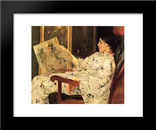 Japanese Print: Modern Custom Black Framed Art Print by William Merritt Chase