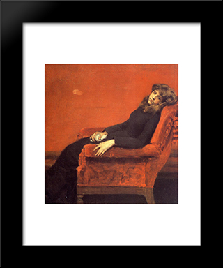 The Young Orphan, Study Of A Young Girl: Modern Custom Black Framed Art Print by William Merritt Chase