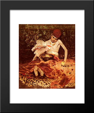 Unexpected Intrusion: Modern Custom Black Framed Art Print by William Merritt Chase