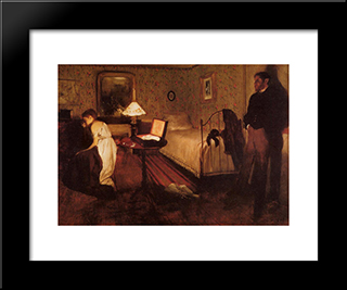 Interior: Modern Custom Black Framed Art Print by Edgar Degas