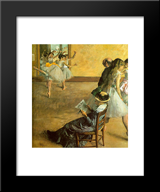 Ballet Class: Modern Custom Black Framed Art Print by Edgar Degas
