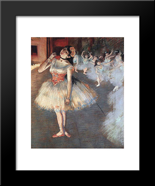 The Star: Modern Custom Black Framed Art Print by Edgar Degas