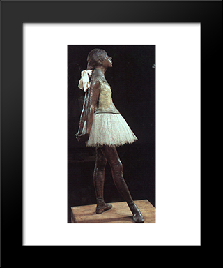 Young 14 Year Old Dancer: Modern Custom Black Framed Art Print by Edgar Degas