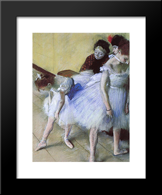 The Dance Examination: Modern Custom Black Framed Art Print by Edgar Degas