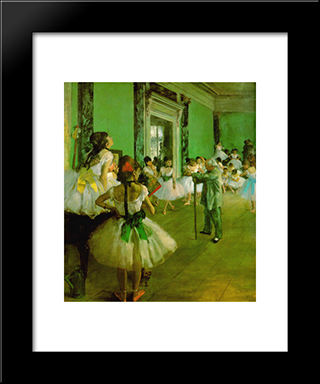Dance Class: Modern Custom Black Framed Art Print by Edgar Degas