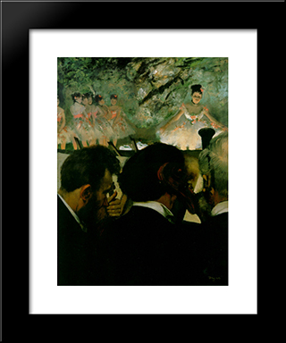 Orchestra Musicians: Modern Custom Black Framed Art Print by Edgar Degas